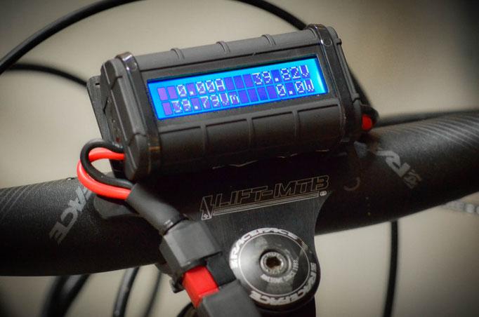 schermata di controllo della bici elettrica