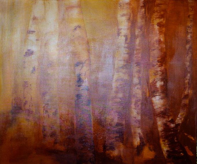 Birken (Acryl, 123 cm x 103 cm)