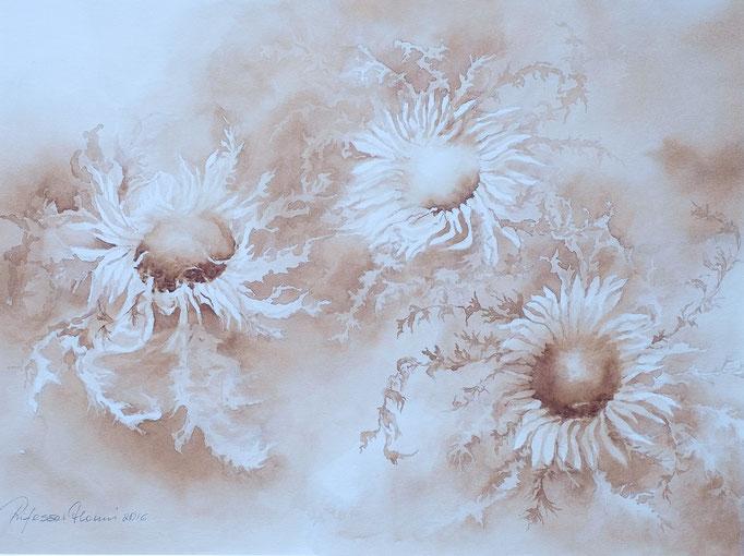 Silberdisteln (Aquarell, 40 cm x 30 cm)