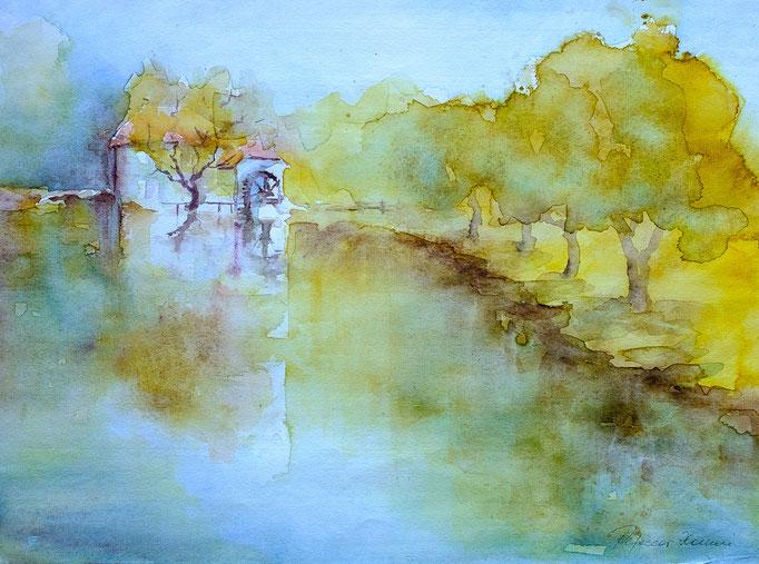 Alte Mühle (Aquarell, 50 cm x 40 cm)