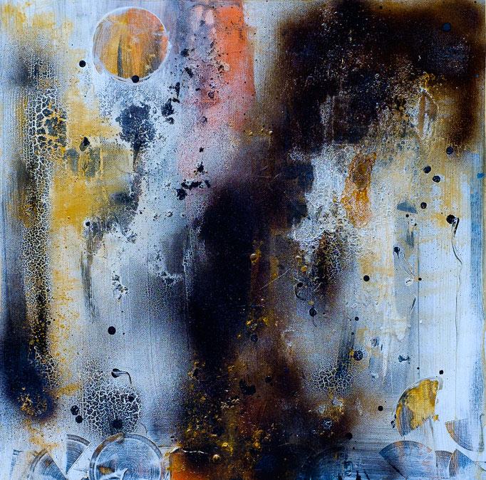 """Vollmond"" (Acryl, 51 cm x 51 cm)"