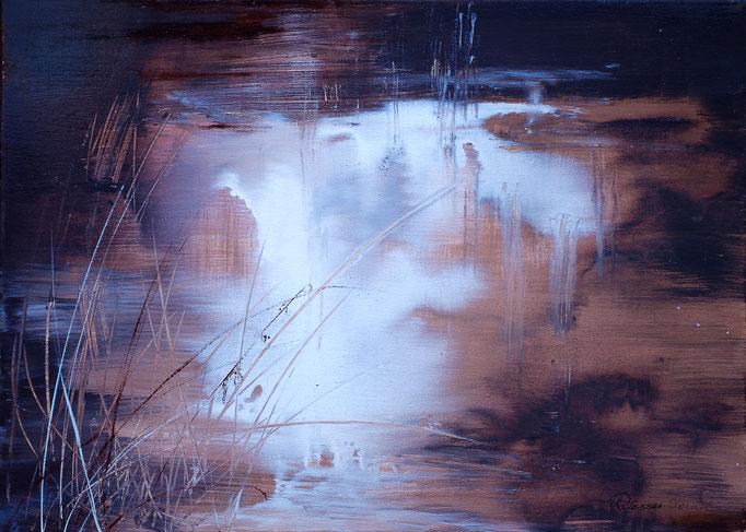 Moorlandschaft (Acryl, 71 cm x 51 cm)