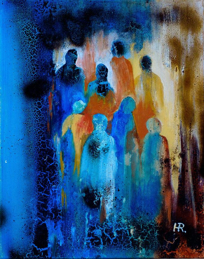 """""""Ins Licht"""" (Acryl, 40cm x 51 cm)"""