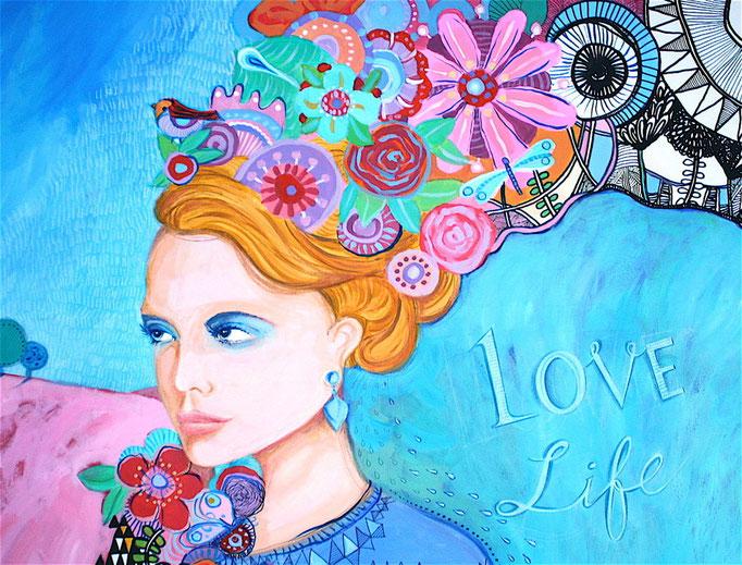 """LOVE LIFE"" - 80 cm x 100 cm"