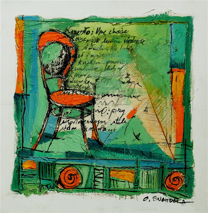 """LA CHAISE ORANGE"" - VENDU / SOLD"