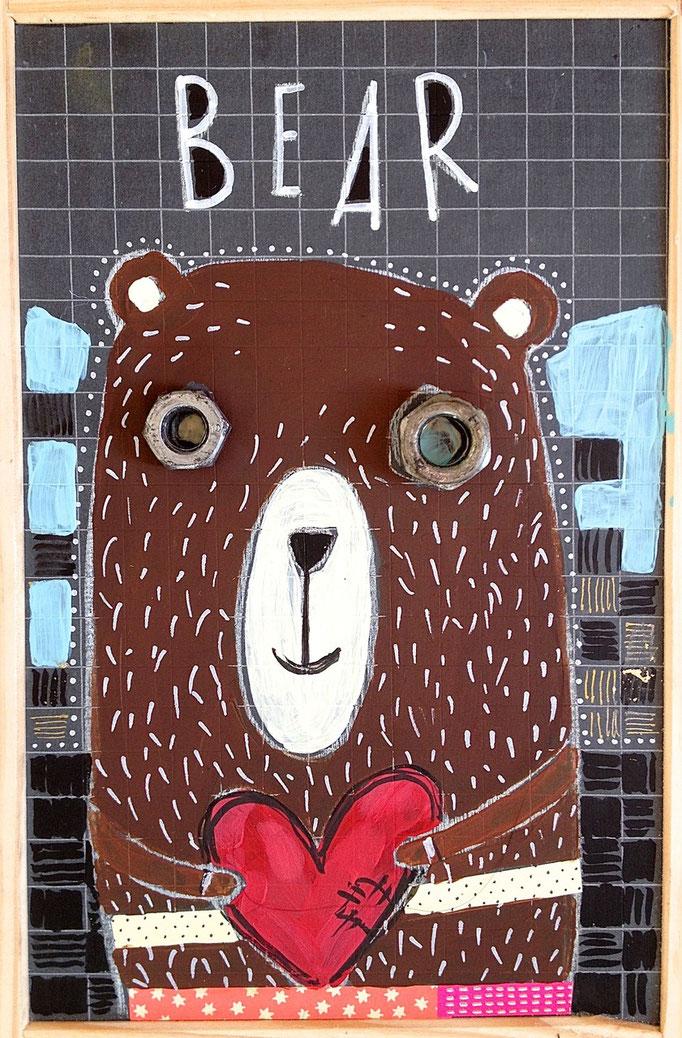 """BEAR"" - 18 cm x 26 cm - SOLD"