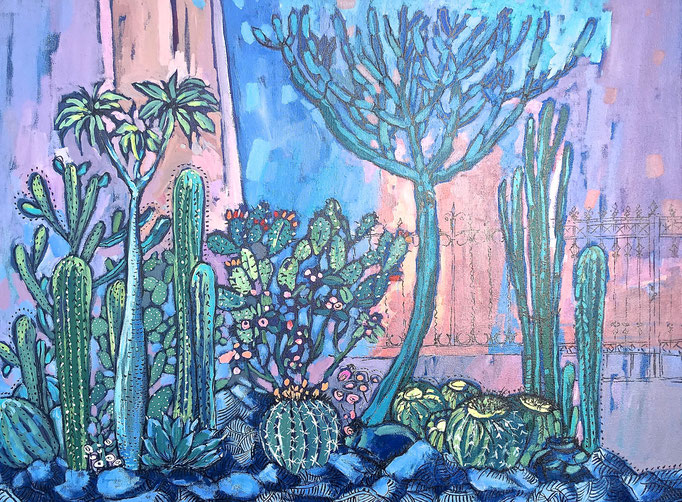 """I CACTUS"" - 80 cm x 60 cm /COLLECTION PRIVÉE/Italie"
