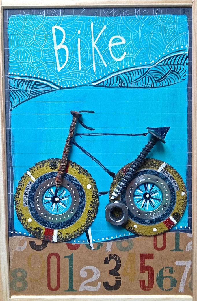 """""""BIKE"""" - 18 cm x 26 cm - 100 €"""