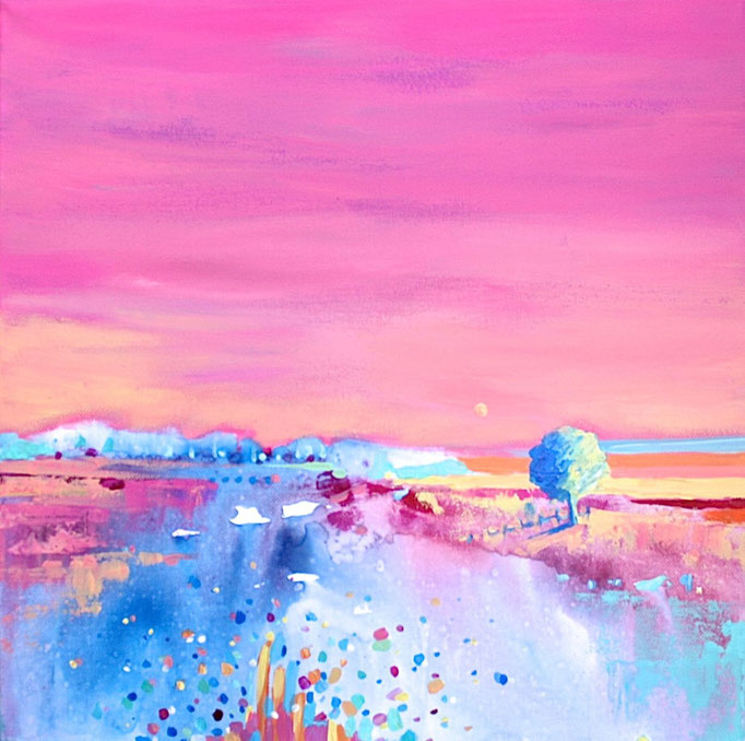 """""""SPRING IS COMING"""" - 40 cm x 40 cm / PRIVATE COLLECTION"""