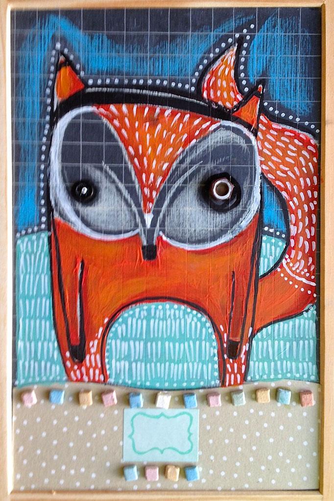 """RENARD D'HIVER"" - 18 cm x 26 cm - 100 €"