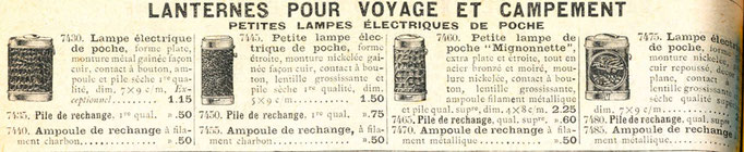 """Extrait du catalogue de la """"manufacture française d'armes et cycles de Saint-Étienne"""" de 1914"""