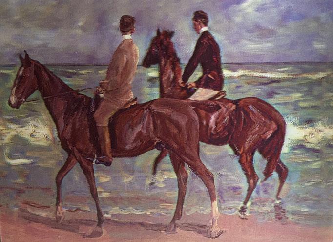 Zwei Reiter am Strand von Max Liebermann