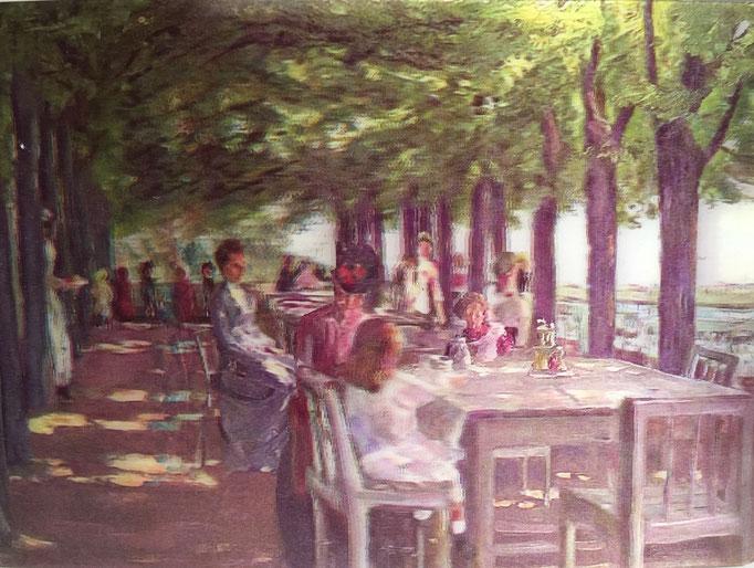 Terrasse im Restaurant Jacob von Max Liebermann