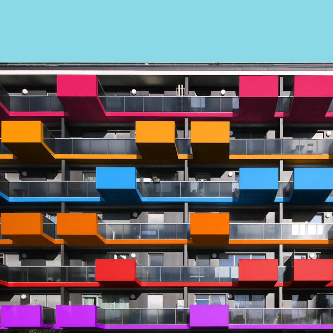 Balconies on lines - Vienna