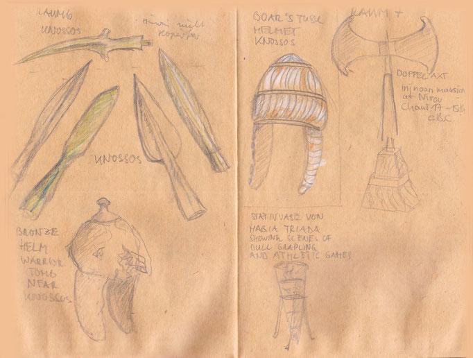 Waffen und Kriegerausstattung aus der griechischen Antike (Archäologisches Museum Kreta)