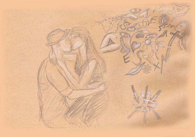 Küssendes Paar 2001