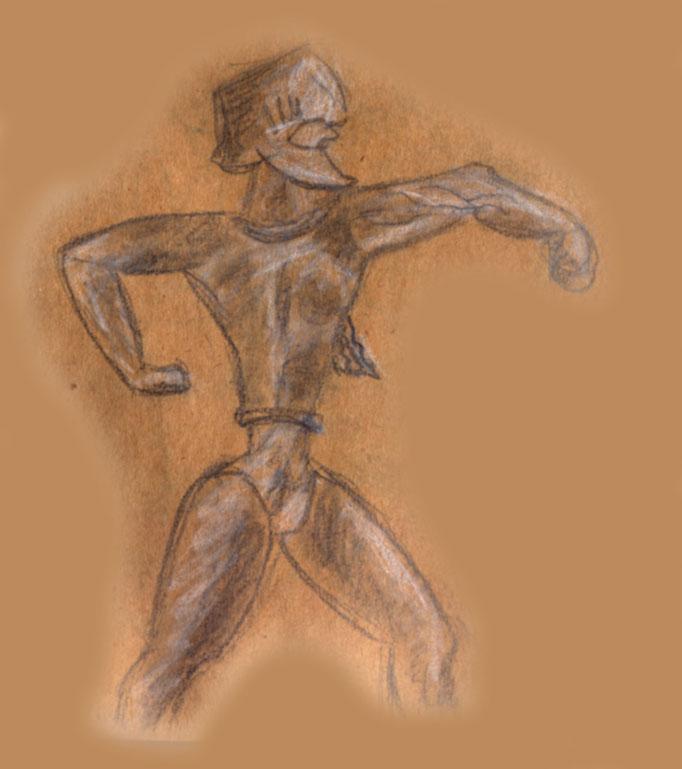 Antiker Faustkämpfer bei den Olympischen Spielen (Archäologisches Museum Kreta)