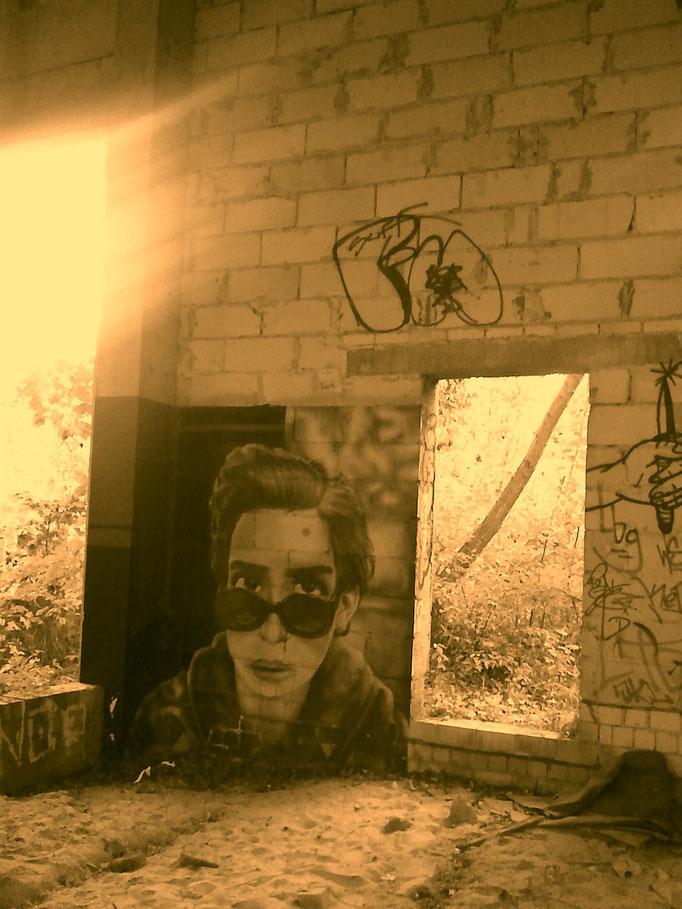 Vergessene Industrielandschaft Berlin-Oberschöneweide, Graffiti