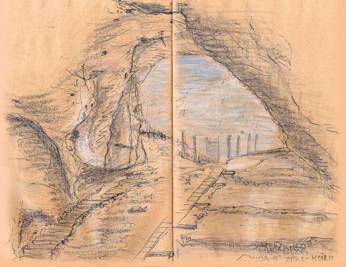 Blick aus der Zeushöhle im Ida-Gebirge
