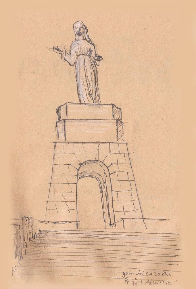 Jesusstatue Alcazaba von Almeria