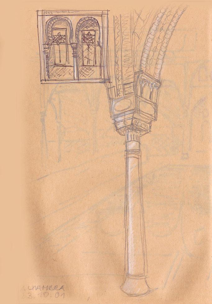 Säulenkapitell in der Alhambra Granada