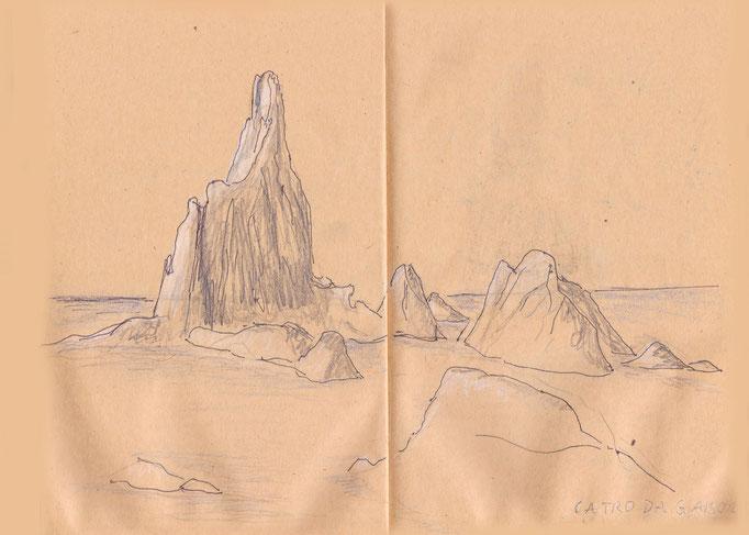 Felsenformation im Mittelmeer vor dem Naturpark Cabo de Gata