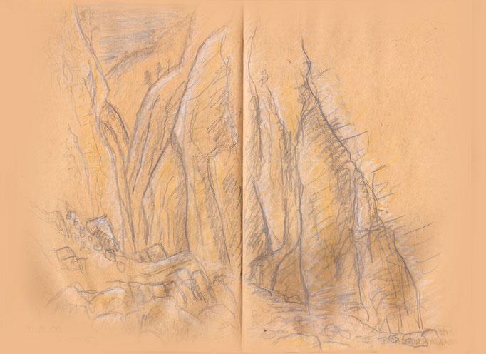 Felswand in der Samariaschlucht