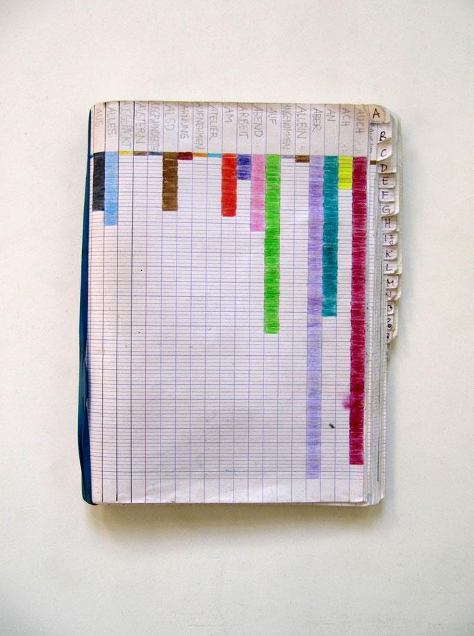 Buchkunst/ gesammelte Worte/ Wortschatz / Foto: privat