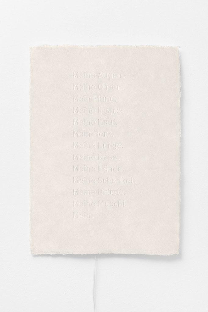 """Buchkunst/ Sound/ Gedichte/""""Körper"""" / 50 × 70 cm"""