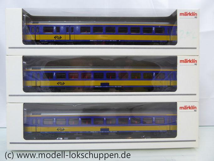 3er Set Inter-City Schnellzugwagen der NS Märklin 42644, 42645, 42646