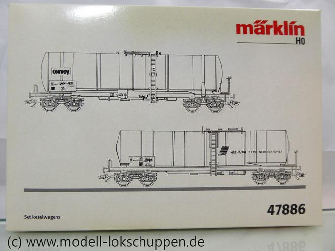 Märklin 47886 Set 2 Chemie-/ Tank-Kesselwagen der NS Einmalige Serie OVP
