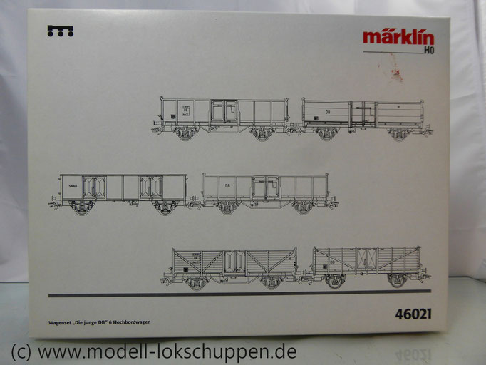 Märklin 46021 Güterwagenset Die junge Bahn 6 offene Güterwagen