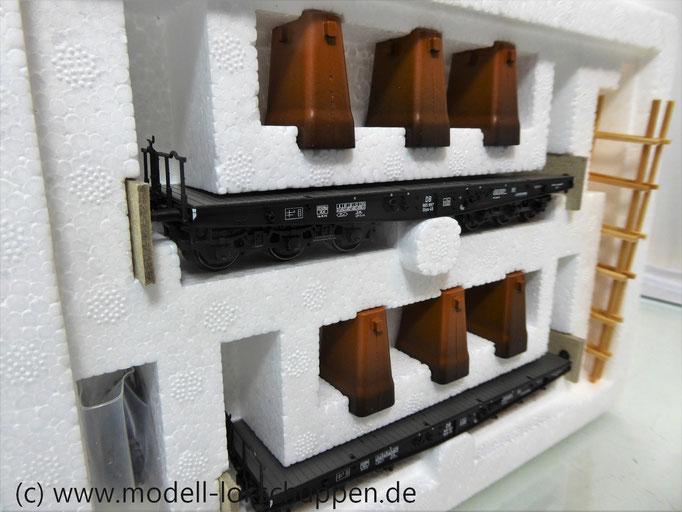Märklin 48672 Schwerlast-Flachwagen mit Kokillenguß der DB