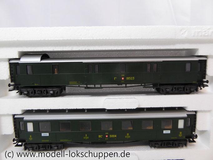 Märklin 42385 H0 Wagen-Set - 3 Schnellzugwagen, SBB-CFF-FFS, Ep. I-II