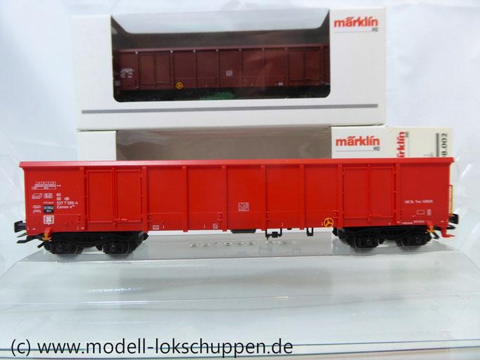 (BS033) Märklin 47198 2er Set Hochbordwagen