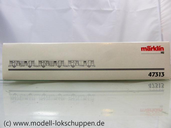 Märklin 47313  Set 3 gedeckte  Güterwagen der NS einmalige Serie OVP