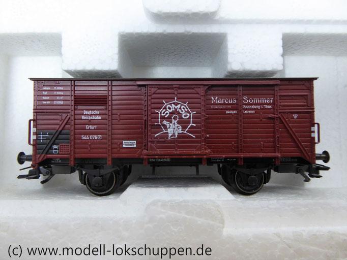 Märklin 47895 Güterwagen-Satz gedeckter Flachdach-Wagen SOMSO