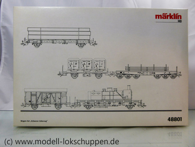 "Märklin 48801 H0 Wagenset ""Schwerer Güterzug"", DB, Ep. III"