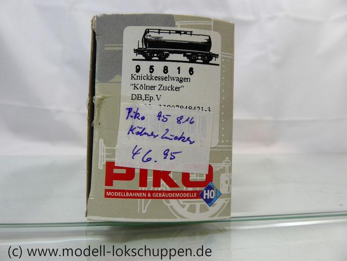 """PIKO 95816 Knickkesselwagen """"Kölner Zucker"""" DB EP V"""