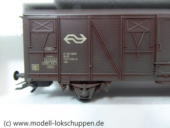 Märklin 47313  Set 3 gedeckte  Güterwagen der NS einmalige Serie