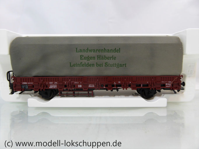 Märklin 46976 Niederbordwagen mit Beladung, DB Rlmmso 56