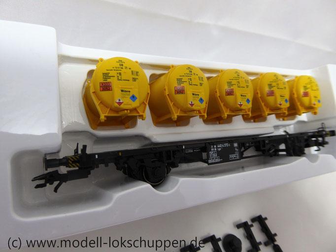 Märklin 48531 Behälter-Tragwagen Witco Polimer Chemicals + Synthetic Resins der DB, Ep. IV