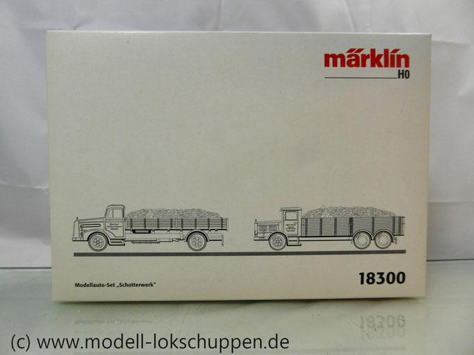 "Märklin 18300 Modellauto-Set ""Schotterwerk"" - 2 klassische LKW-Modelle"