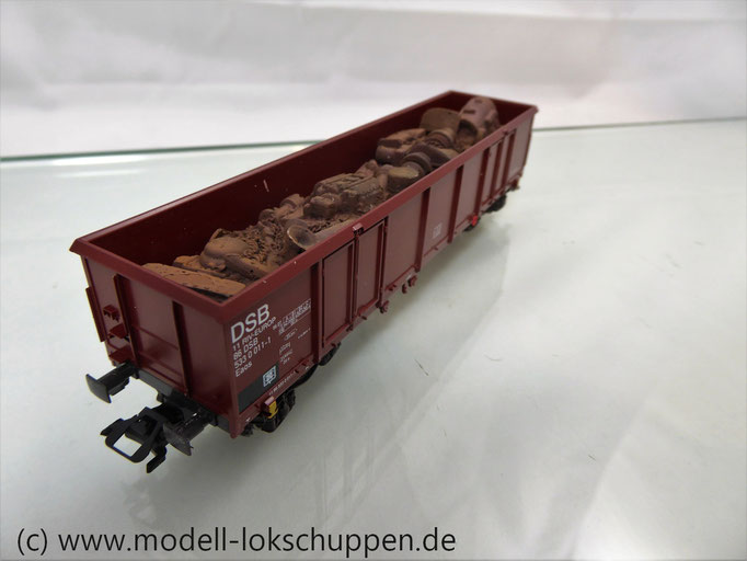 Märklin 46906 Set 2 Hochbordwagen der DSB beladen mit Schiffsschrott
