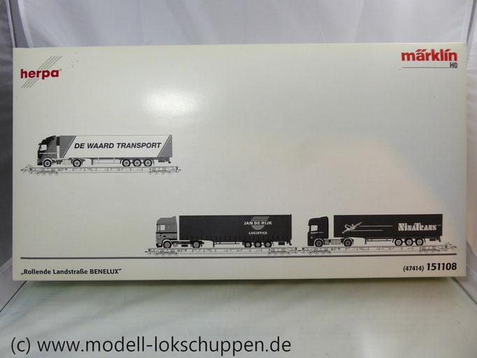 "6-tlg. Märklin/Herpa 47414/151108 Set ""Rollende Landstraße BENELUX"""
