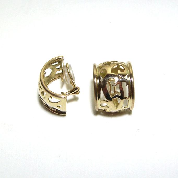 Ohrclip Oriental Gold 750