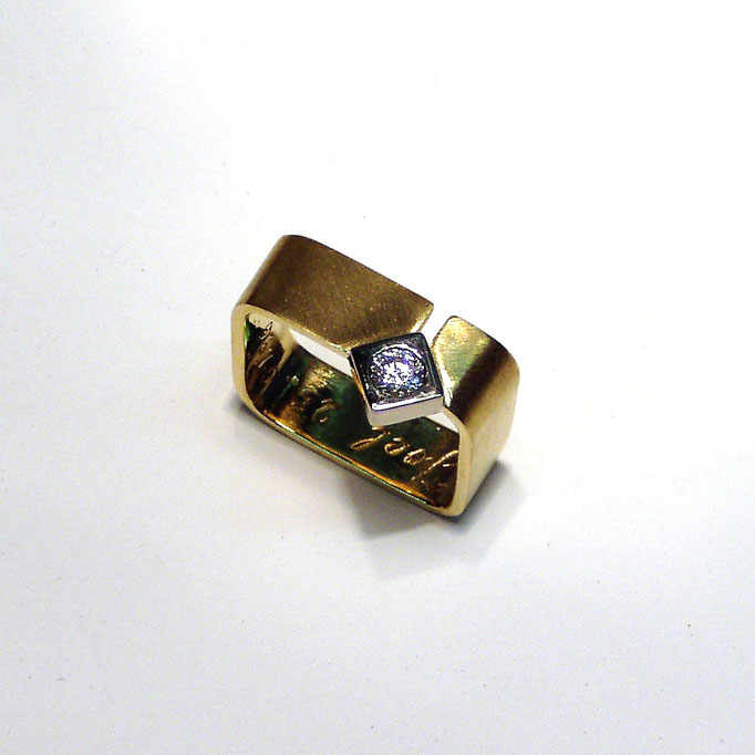 Herrenring Gold 750 Brillant