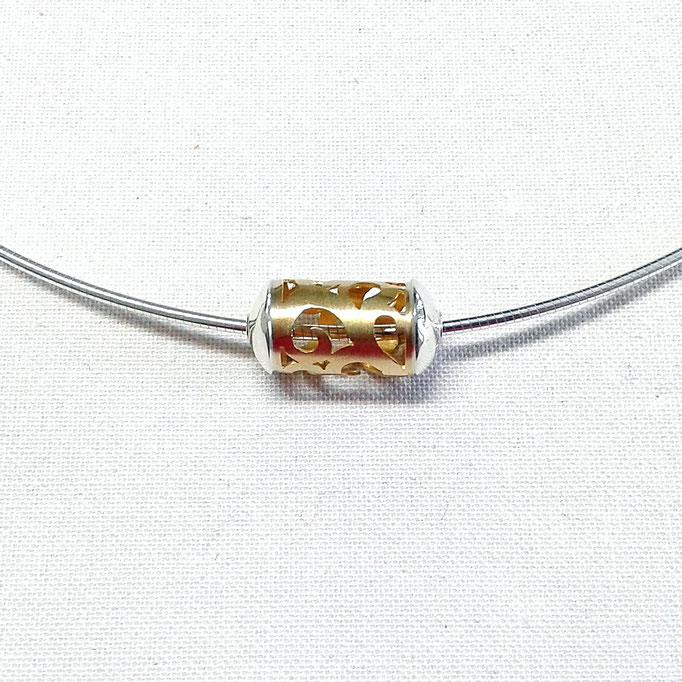 Anhänger Oriental-Walze Gold 750/Sterlingsilber