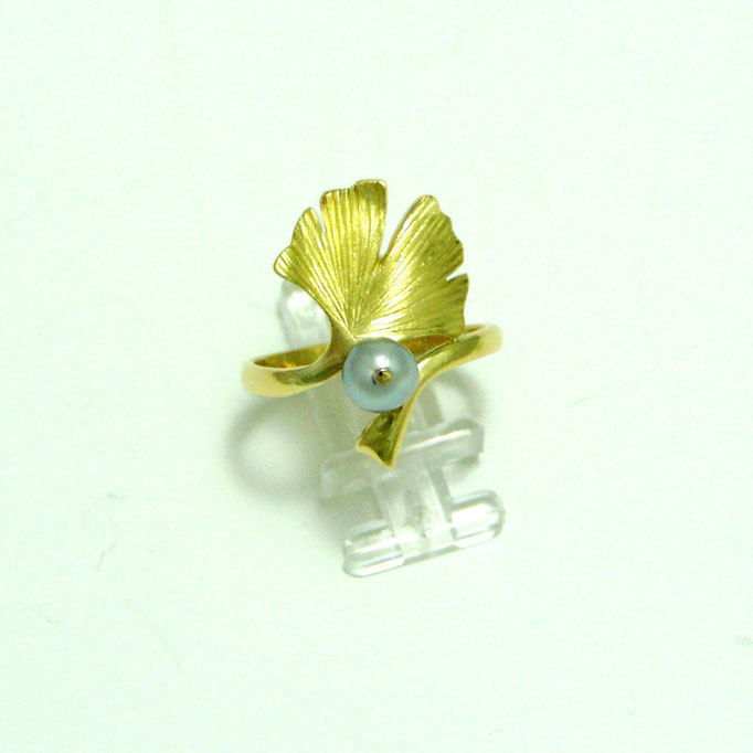 Ring Ginkgo Gold 750