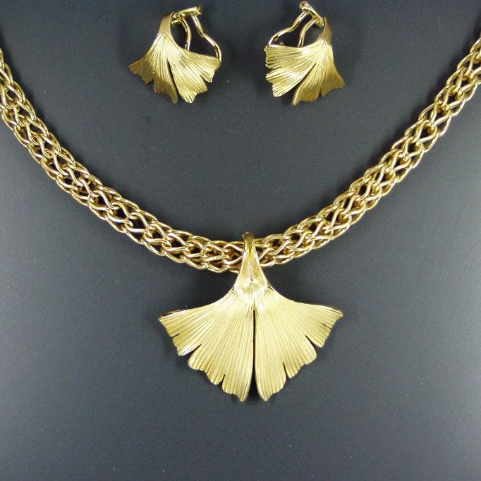 Kettenclip Ginkgoblatt Gold 750